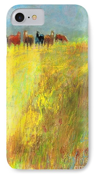 IPhone Case featuring the painting Fall Day On The Mesa by Frances Marino
