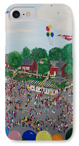 IPhone Case featuring the painting Fall Fair by Virginia Coyle