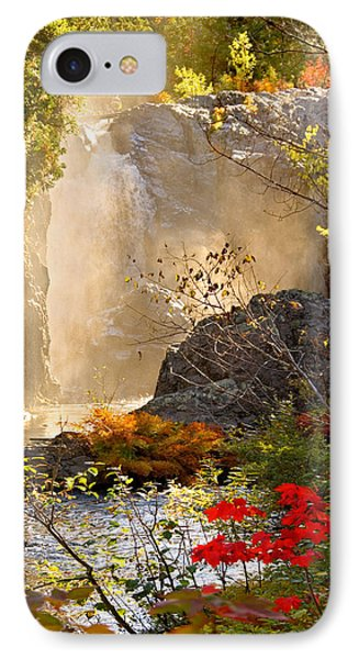 Fall Falls Mist  Dead River Falls  Marquette Mi IPhone Case by Michael Bessler