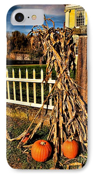 Fall Fence At Hale Farm IPhone Case by Joan  Minchak