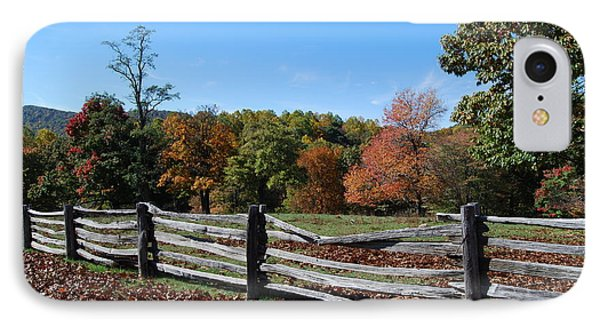Fall Fence IPhone Case by Eric Liller
