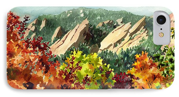 Fall Flatirons IPhone Case by Anne Gifford