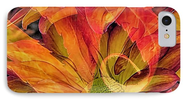 Fall Floral Composite IPhone Case by Janice Drew