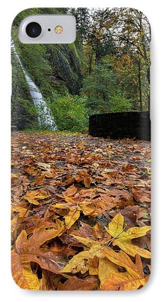 Fall Foliage At Horsetail Falls Phone Case by David Gn