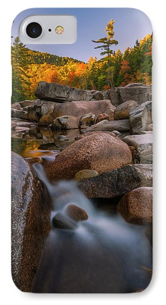IPhone Case featuring the photograph Fall Foliage In New Hampshire Swift River by Ranjay Mitra