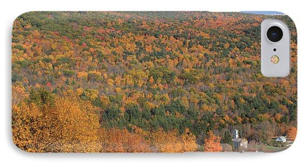Fall Foliage On The Appalachian Trail Tyringham Cobble IPhone Case by John Burk