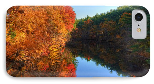 Fall Foliage River Reflections IPhone Case by Joann Vitali