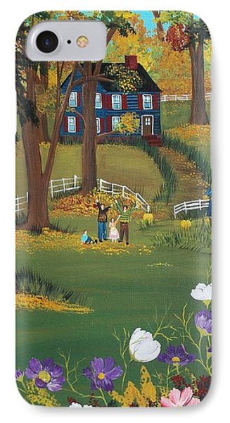 Fall Foliage IPhone Case by Virginia Coyle