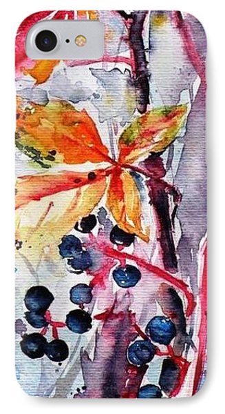 IPhone Case featuring the painting Fall II by Kovacs Anna Brigitta