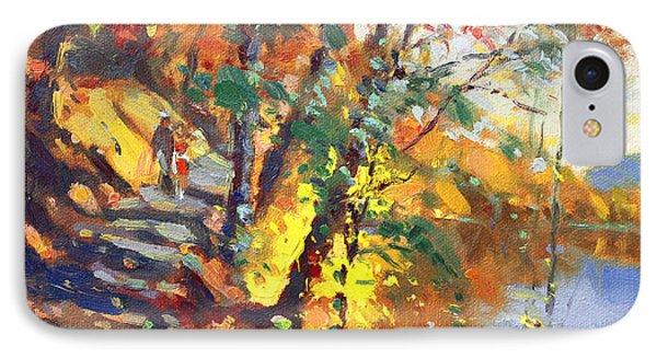 Fall In Bear Mountain IPhone Case by Ylli Haruni
