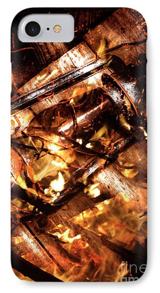 Fall In Fire IPhone Case by Jorgo Photography - Wall Art Gallery