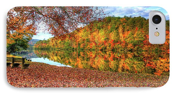 IPhone Case featuring the digital art Fall In Murphy, North Carolina by Sharon Batdorf