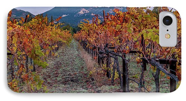 Fall In Wine Country IPhone Case by Bill Gallagher