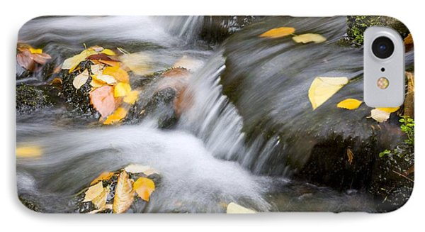 Fall Leaves In Rushing Water Phone Case by Craig Tuttle