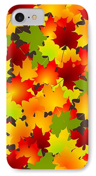 Fall Leaves Quilt Phone Case by Anastasiya Malakhova
