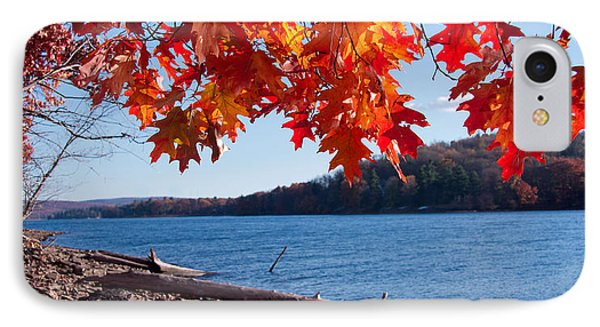 Deep Creek Lake Fall I IPhone Case by Neal Blizzard