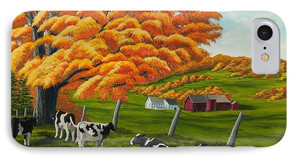 Fall On The Farm IPhone Case