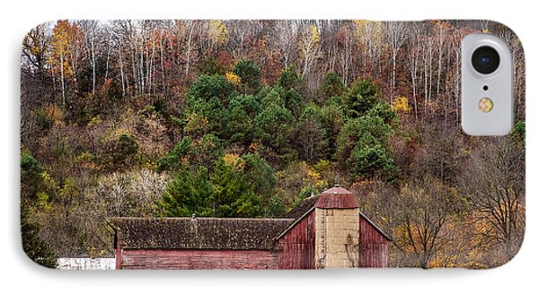 Fall On The Farm IPhone Case by Paul Freidlund