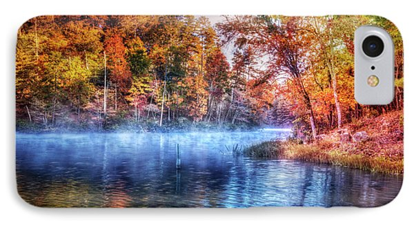 IPhone Case featuring the photograph Fall On The Lake by Debra and Dave Vanderlaan