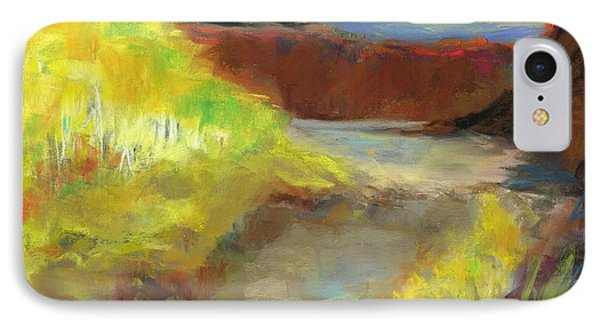 IPhone Case featuring the painting Fall Ponds by Frances Marino