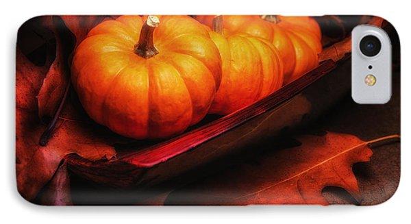 Fall Pumpkins Still Life IPhone 7 Case by Tom Mc Nemar