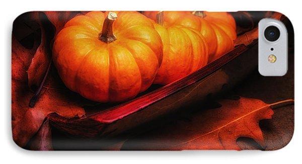 Fall Pumpkins Still Life IPhone Case by Tom Mc Nemar