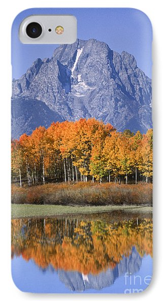 Fall Reflection At Oxbow Bend Phone Case by Sandra Bronstein