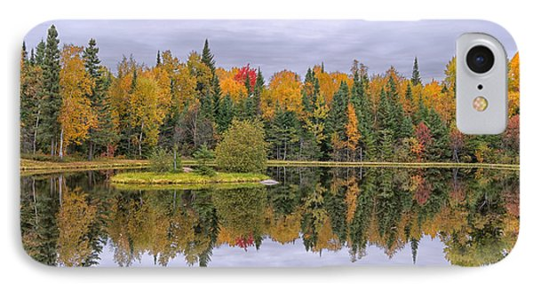 Fall Reflecton IPhone Case by CR  Courson