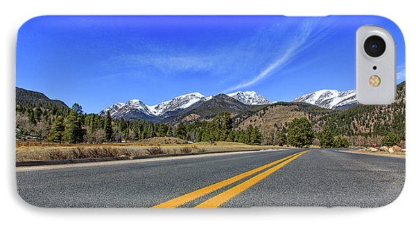 IPhone Case featuring the photograph Fall River Road With Mountain Background by Peter Ciro