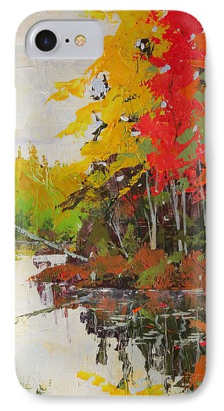 Fall Scene IPhone Case by David Gilmore