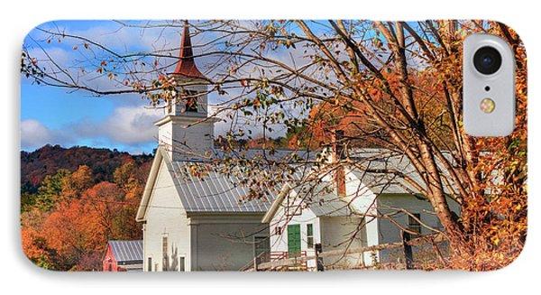 Fall Scene - North Tunbridge Vermont IPhone Case by Joann Vitali