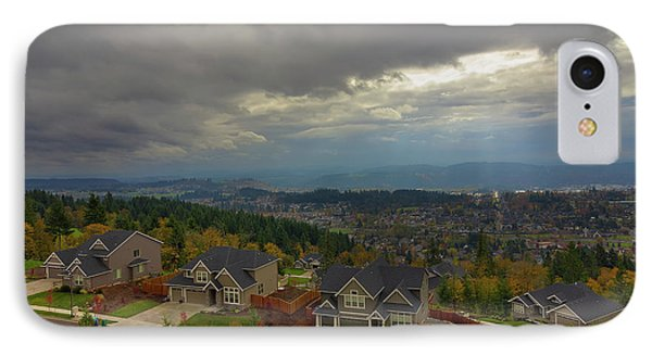 Fall Season In Happy Valley Oregon Phone Case by David Gn
