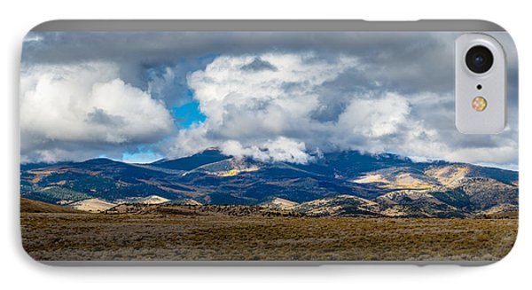 Fall Storm Clearing Off Pintada Mountain IPhone Case by John Brink