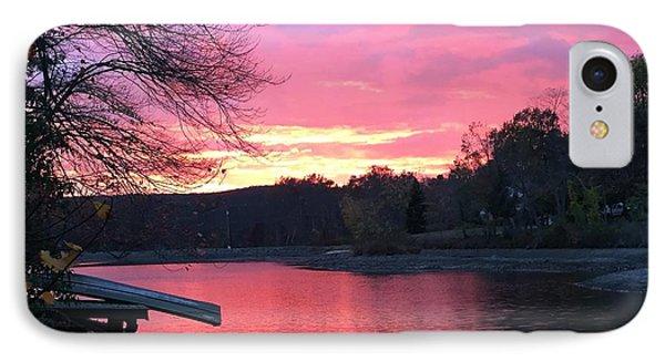 Fall Sunset On The Lake IPhone Case by Jason Nicholas