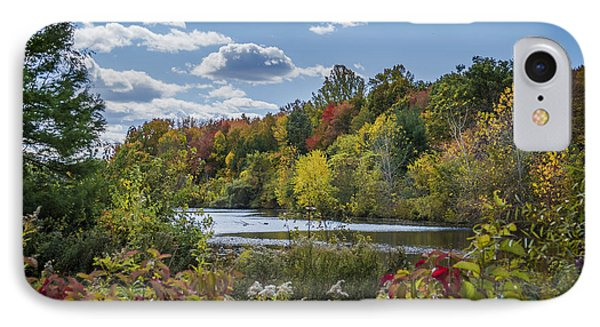 Fall Time On The Lake IPhone Case