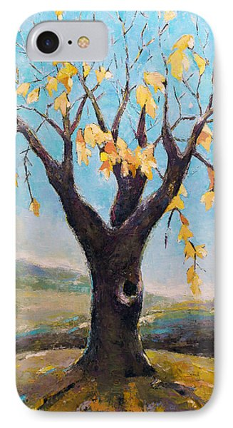 IPhone Case featuring the painting Fall Tree In Virginia by Becky Kim