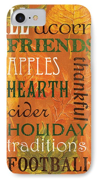 Fall Typography 2 IPhone Case by Debbie DeWitt