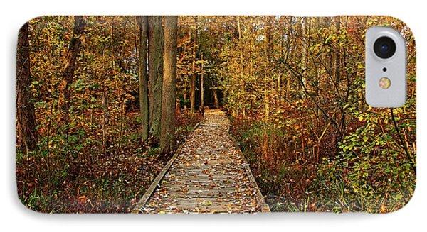 Fall Walk IPhone Case by Debbie Oppermann