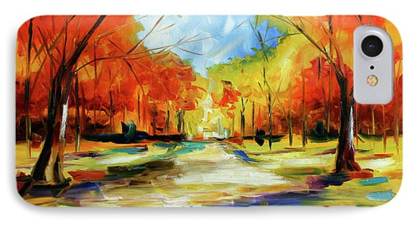 Fall Walk In The Trees IPhone Case