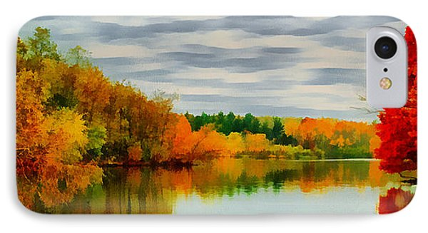 IPhone Case featuring the painting Fall Water Painterly Rendering by Michael Flood