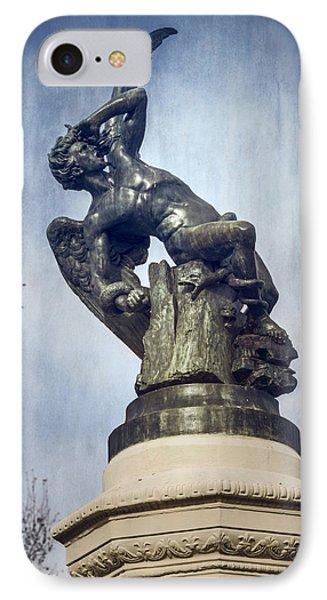 Fallen Angel Madrid Spain IPhone Case by Joan Carroll