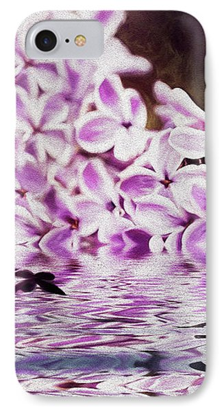 Fallen Lilacs IPhone Case by Diane Schuster