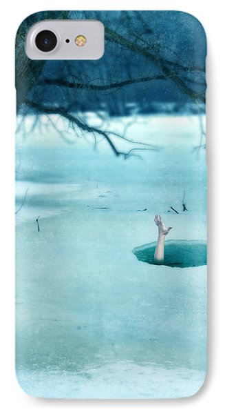 Fallen Through The Ice Phone Case by Jill Battaglia