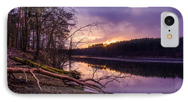 Fallen To The Setting Sun IPhone Case by Dmytro Korol