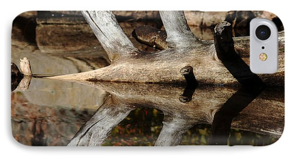 IPhone Case featuring the photograph Fallen Tree Mirror Image by Debbie Oppermann