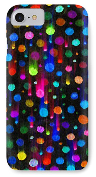 Falling Balls Of Color Phone Case by Carl Deaville