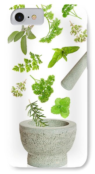 Falling Herbs IPhone Case by Amanda Elwell