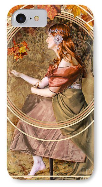 Falling Leaves IPhone 7 Case by John Edwards