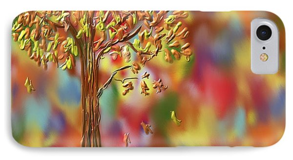 Falling Leaves Phone Case by Kevin Caudill