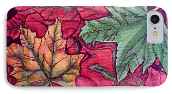 IPhone Case featuring the painting Falling Leaves Two Painting by Kimberlee Baxter